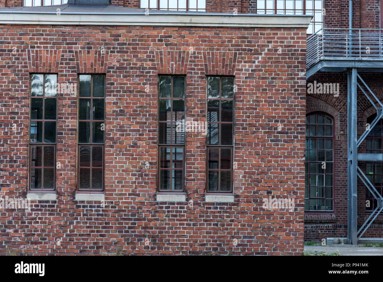 Bauhaus industrial brick essen zollverein - Stock Image