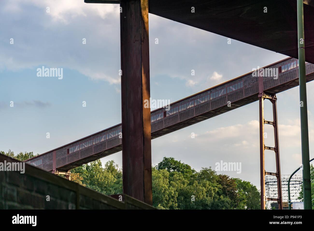 Zollverein sky summer - Stock Image