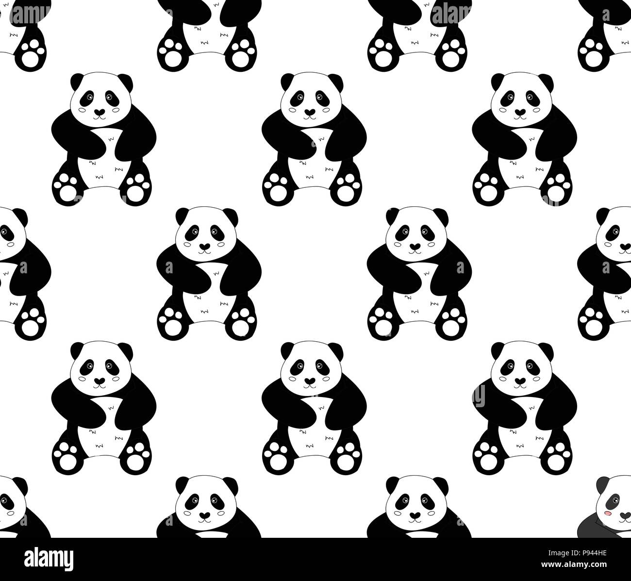 Panda Wallpaper Black And White Stock Photos Images Alamy
