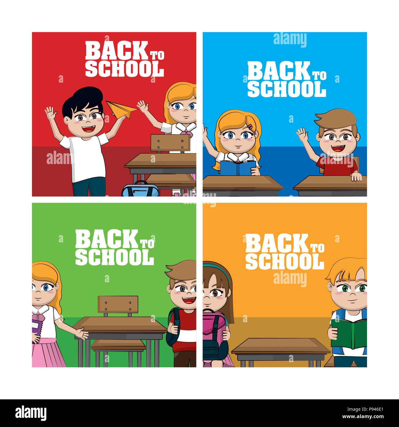 Back to school frames vector illustration graphic design Stock ...