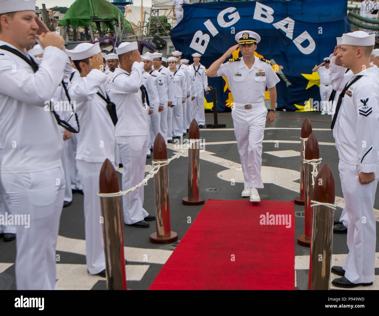 File:flickr official u. S. Navy imagery a rear adm. Salutes as.