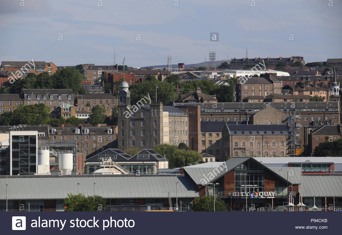 Distant view of Hotel Indigo Dundee Scotland  July 2018 - Stock Image