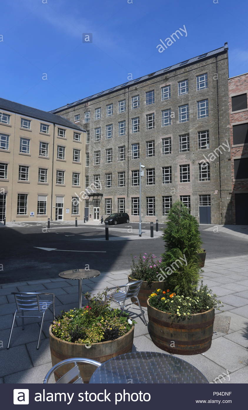 Courtyard at Hotel Indigo Dundee Scotland  July 2018 - Stock Image