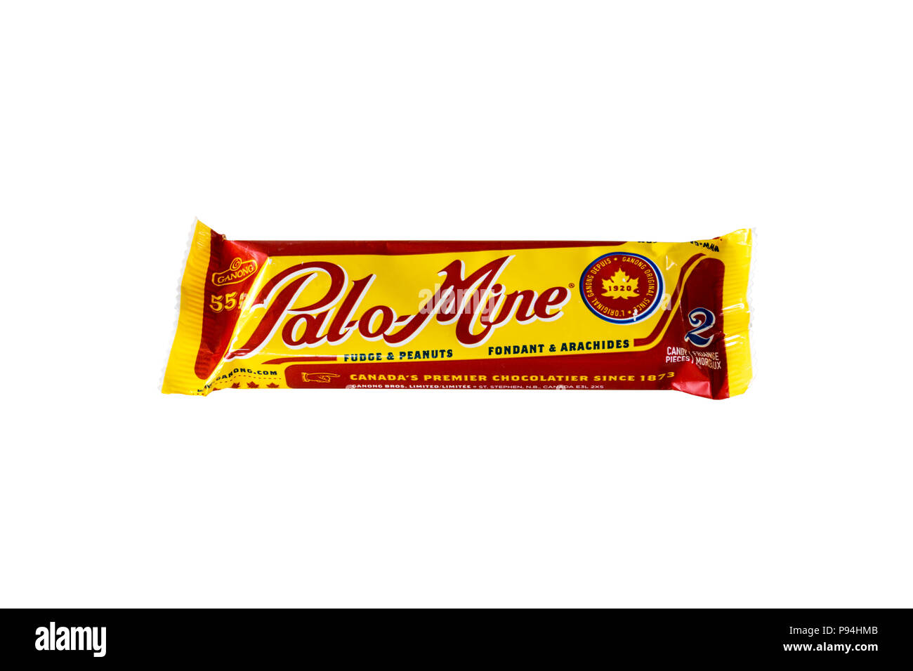 Pal-o-Mine fudge and peanut bar made by Ganong of Canada - Stock Image