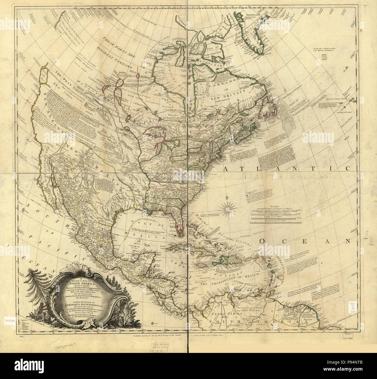 A General Map Of North America In Which Is Express D The Several