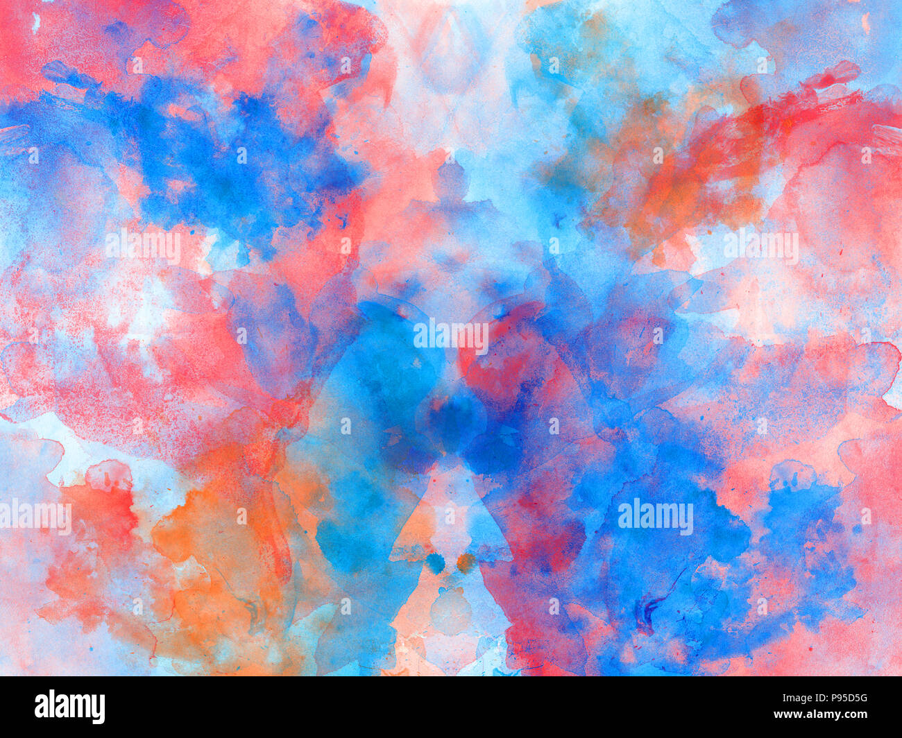 Abstract Watercolor Colorful Stains Paint Splatter Brushes