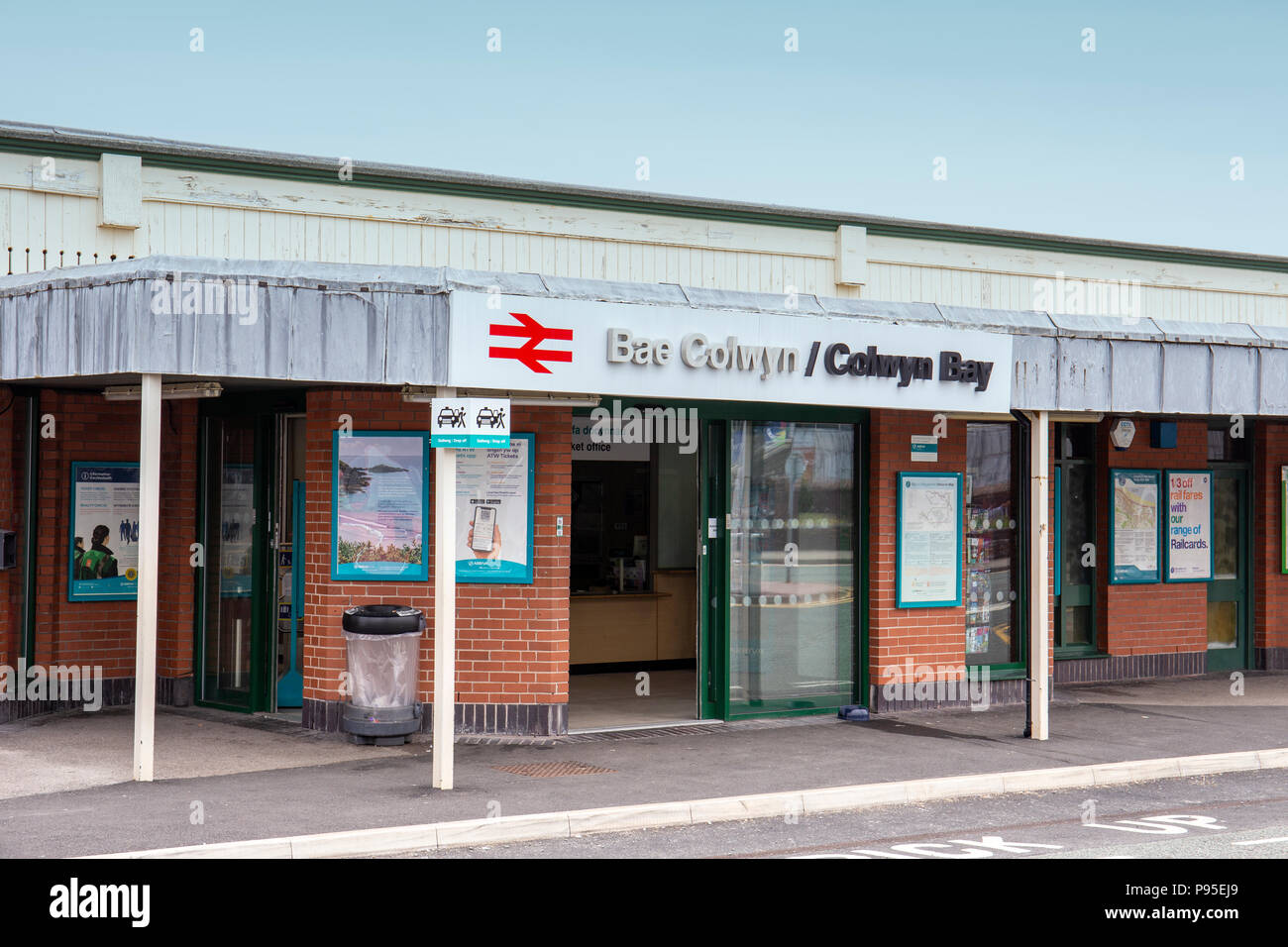 Colwyn Bay railway station North Wales UK - Stock Image