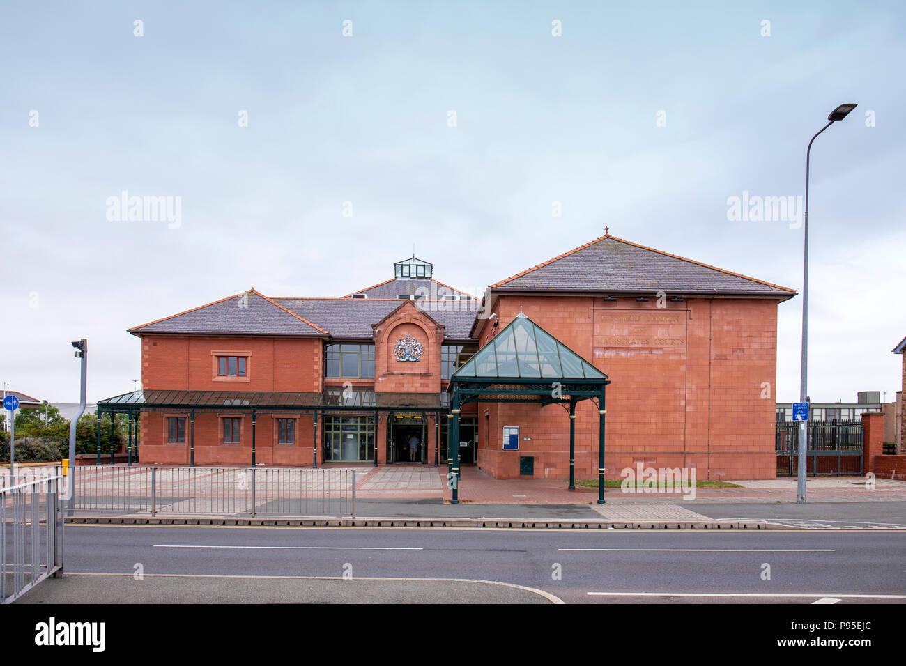 Magistrates Courts in Llandudno Wales UK - Stock Image