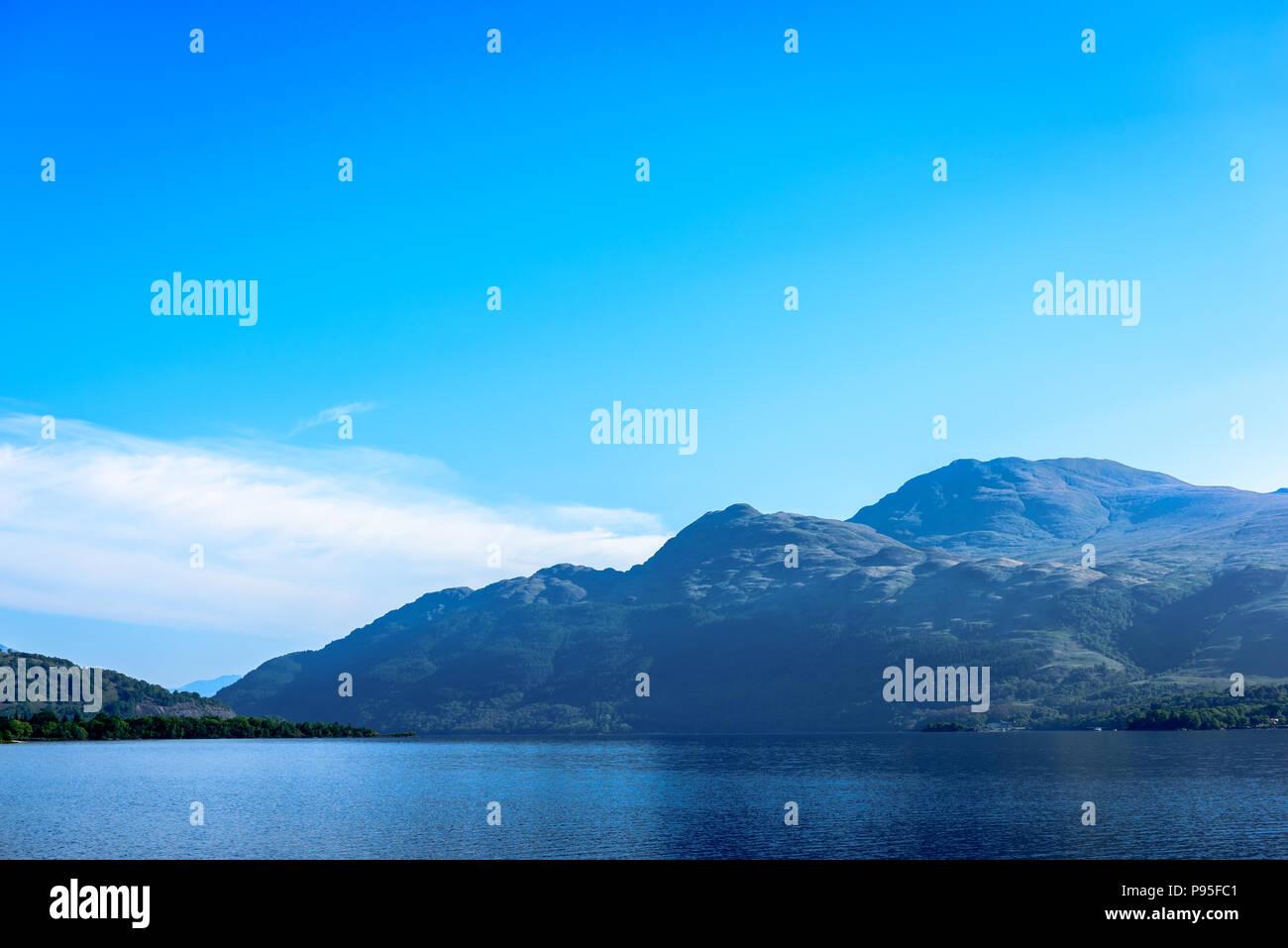 Scottish landscape. Beautiful sky above Scotland. Waterscenic  . - Stock Image