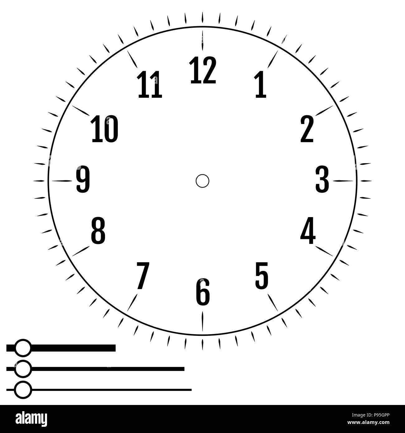 It is a photo of Printable Clock Face Without Hands regarding ks2