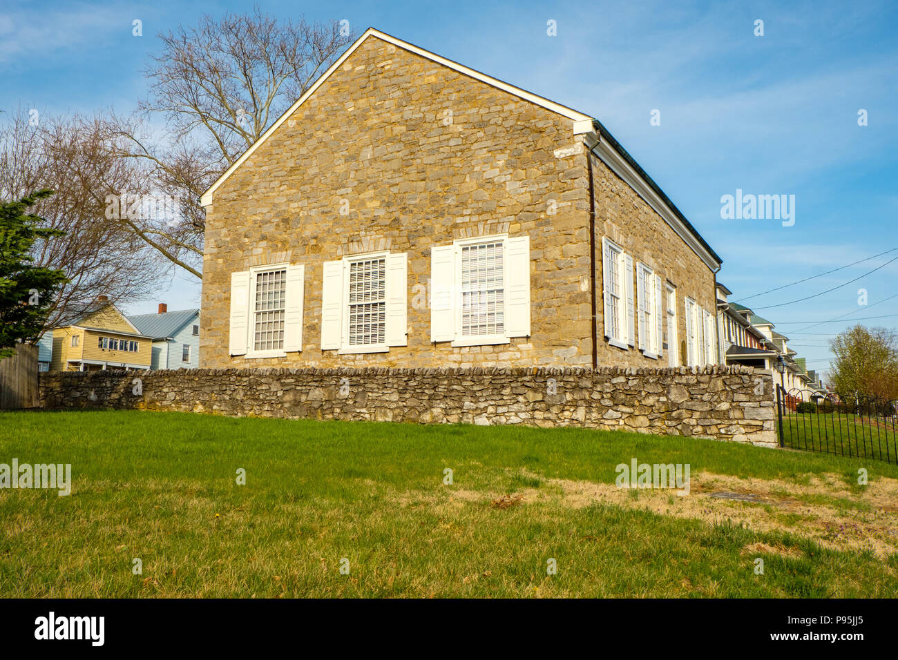 Old Stone Presbyterian Church, 304 East Piccadilly Street, Winchester, Virginia - Stock Image