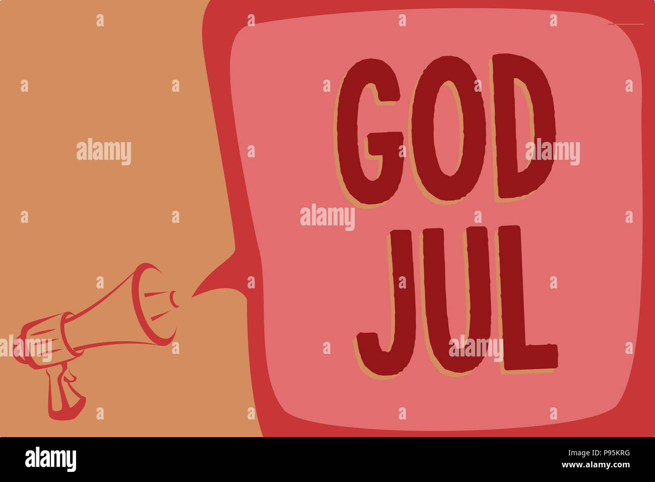 Writing note showing god jul business photo showcasing merry business photo showcasing merry christmas greeting people for new year happy holidays megaphone loudspeaker speech bubbl m4hsunfo