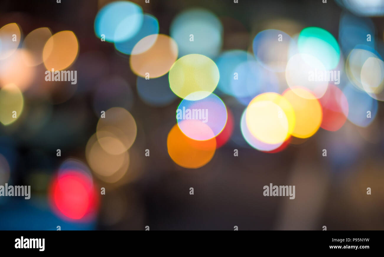Abstract bokeh lights. Perfect festive background. - Stock Image