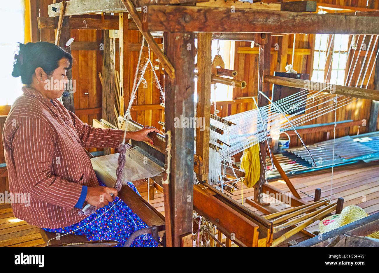 Lotus Fabric Process Stock Photos & Lotus Fabric Process