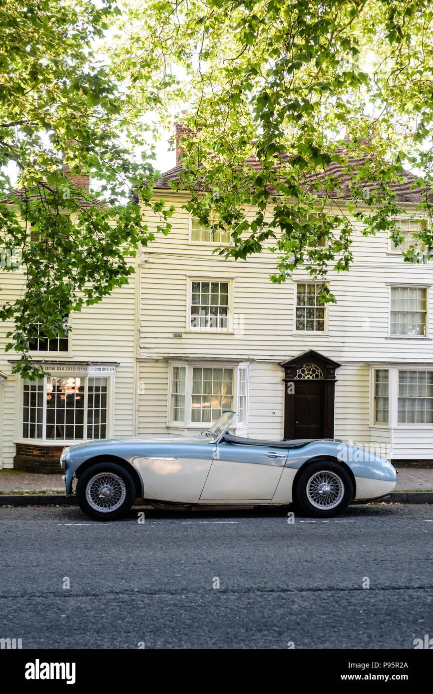 British sports car village location - Stock Image