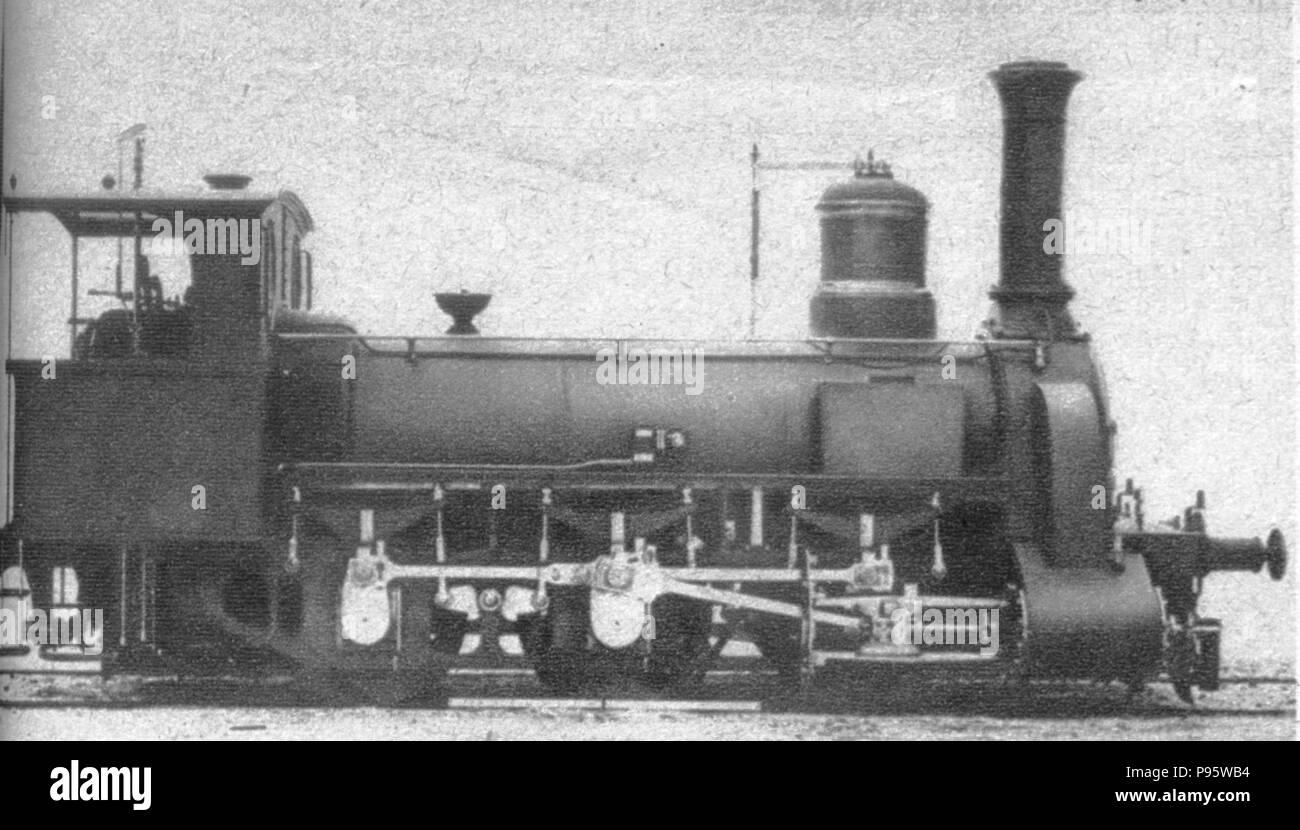 A Magyar Királyi Állami Gépgyárban 1873-ban készült első mozdony. - Stock Image