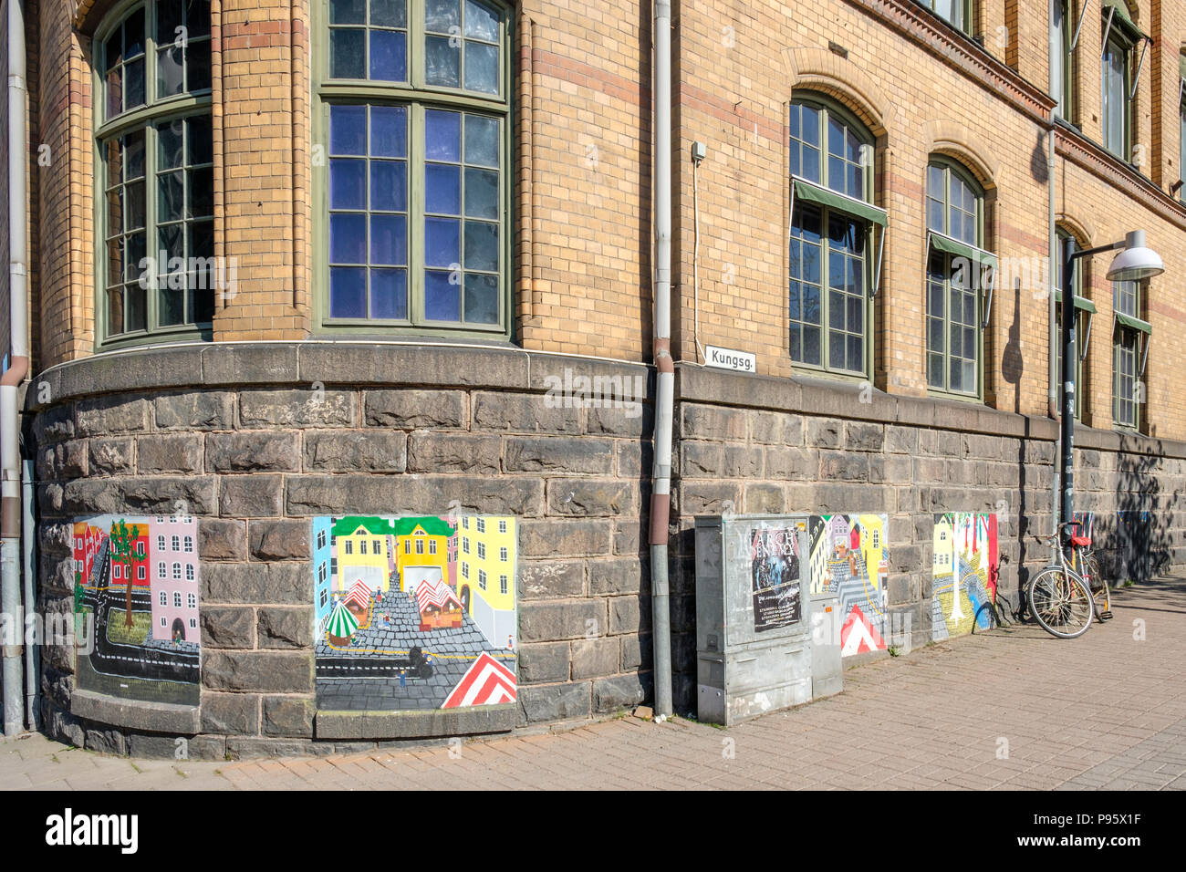 Cultural block Hallarna (The Halls) in Norrköping, Sweden. This old wool factory from 1895 has been turned into a centre for cultural activities. - Stock Image
