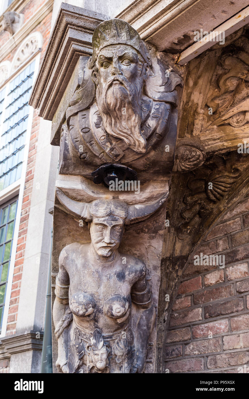 Satyr at the Devils house in Arnhem the Netherlands Stock Photo