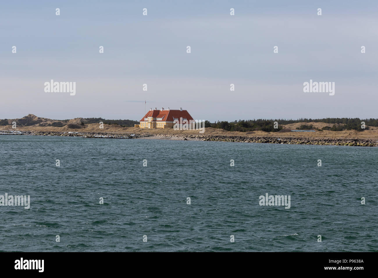 The 'Klitgaarden' in Skagen, also known as the  'Kongevillaen', was built as the summer residence of King Christian X of Denmark in 1914. Used by King - Stock Image
