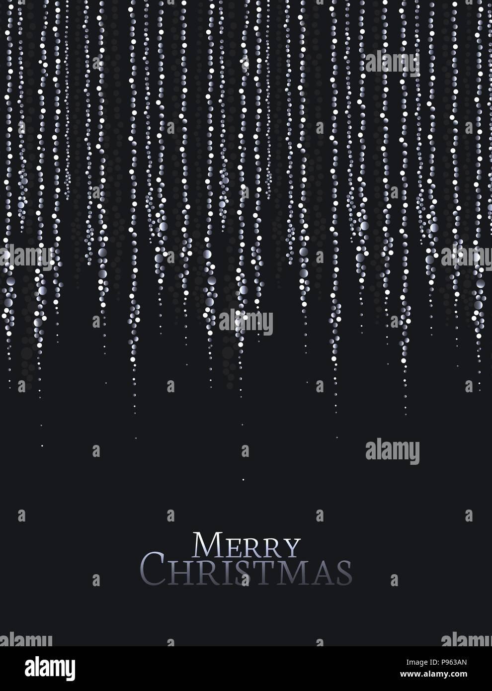vector illustration christmas lights on a black background string lights
