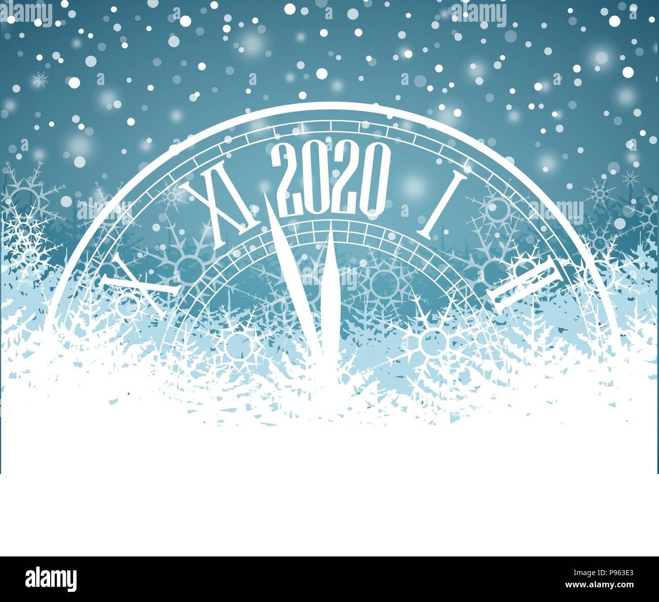 New Year 2020 Background Happy New Year 2020, vector illustration Christmas background with