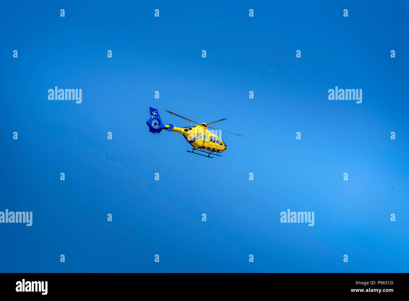 North West Air Ambulance helicopter. - Stock Image