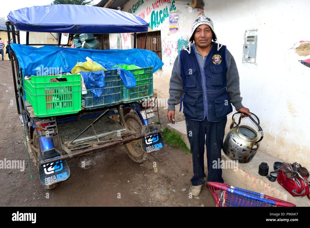 Ambulatory repairer of electrical appliancesr in SALALA  ' Las Huaringas '  - HUANCABAMBA.. Department  of Piura .PERU             - Stock Image