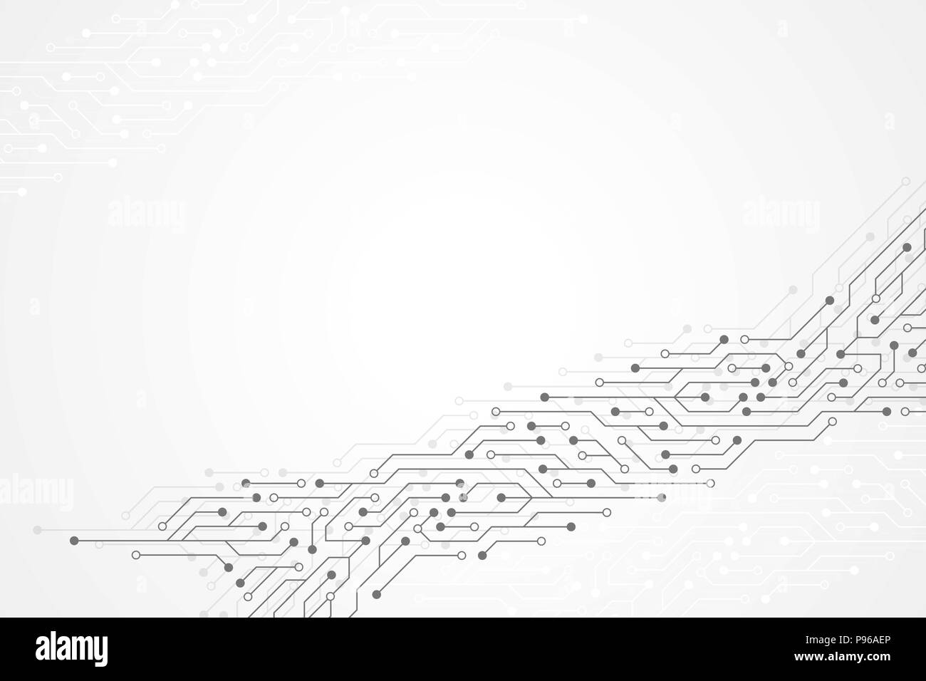 Abstract Circuit Board Background By Silvertiger: Circuit Black And White Stock Photos & Images