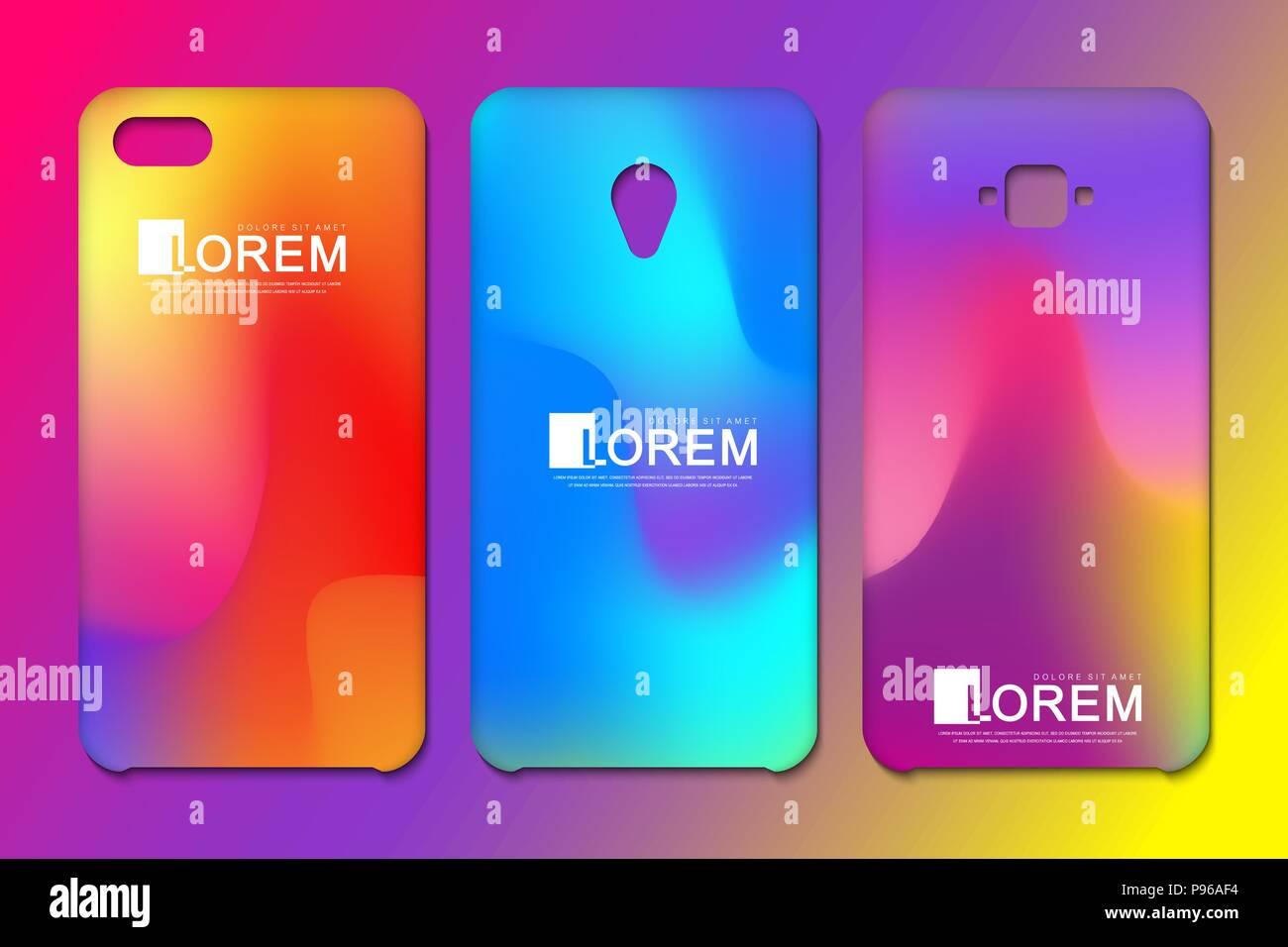 Vector Phone Wallpaper Collection Editable Gradient Mesh