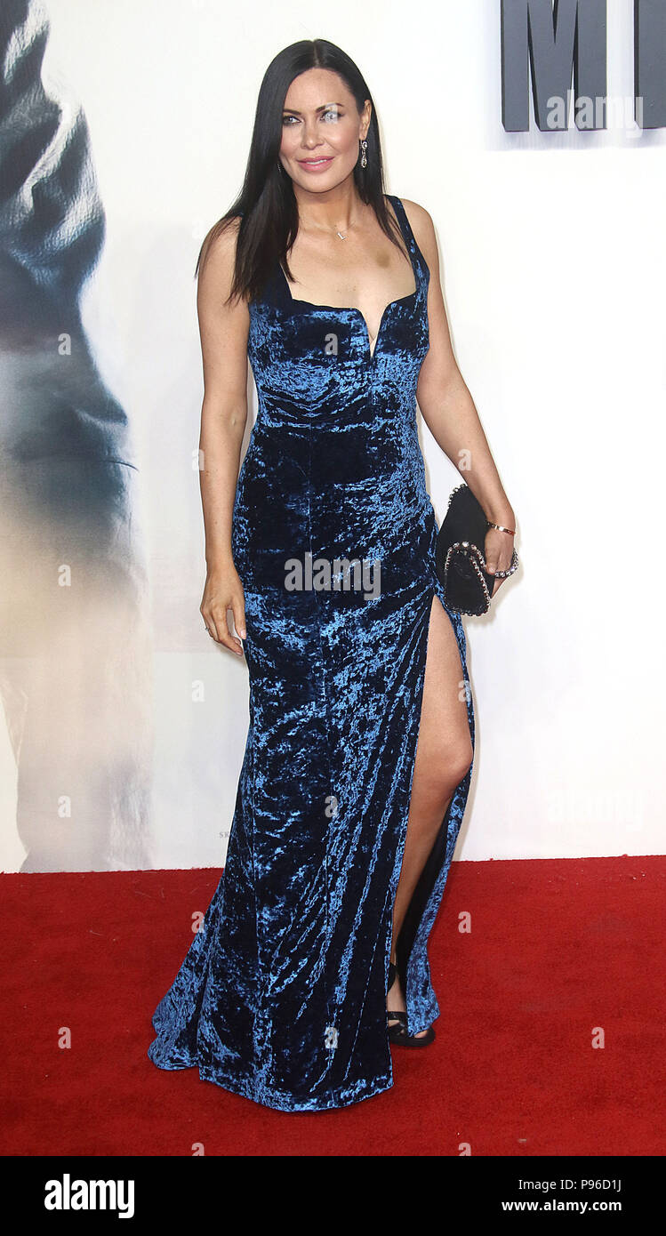 LONDON - JUN 13, 2018: Linzi Stoppard attends the UK Premiere of Mission: Impossible – Fallout held at the BFI IMAX Stock Photo