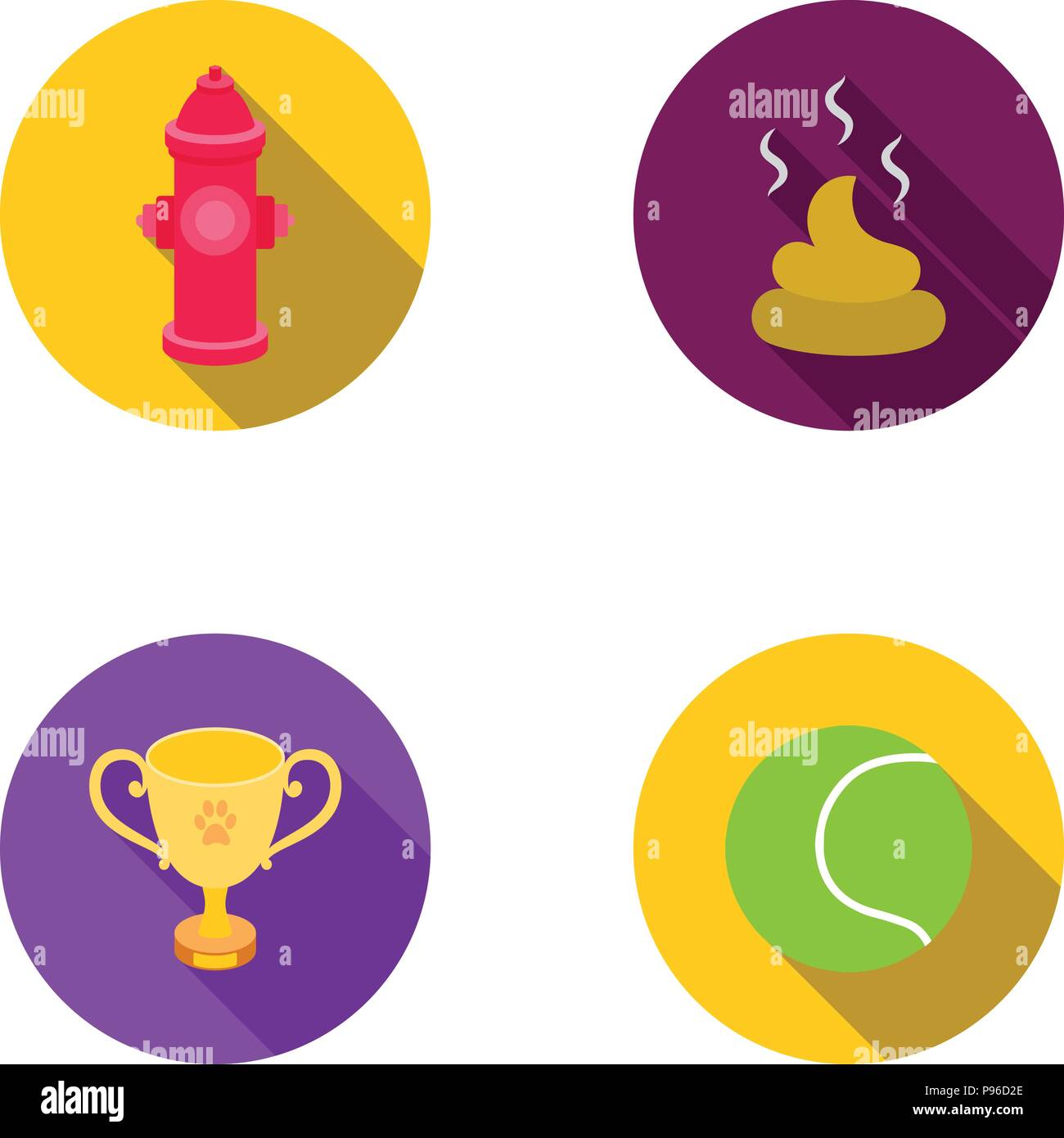 Tennis Ball Game Hydrant Fire Cup Fecesg Set Collection Icons