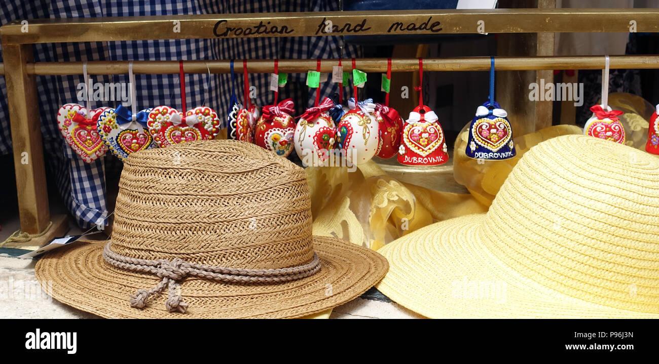 Souvenirs in Dubrovnik, Croatia - Stock Image