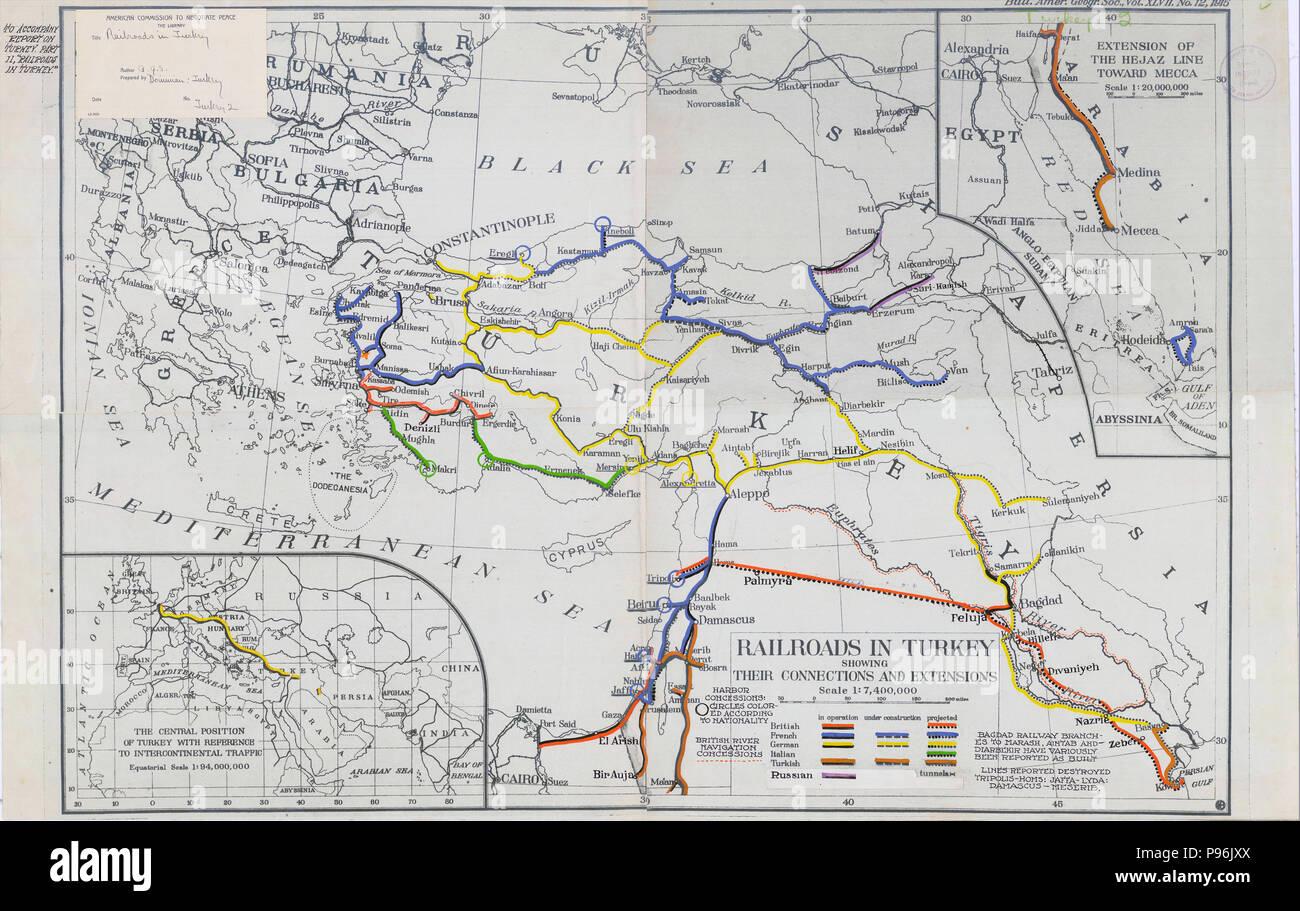 Turkish Railroad Map Stock Photos & Turkish Railroad Map ... on dubai map, khartoum map, alexandria map, aleppo map, casablanca map, shiraz map, jakarta map, tehran map, medina map, tahrir square map, addis ababa map, paris map, africa map, constantinople map, kabul map, pyramid of giza map, cape town on map, mombasa map, lagos map, jerusalem map,