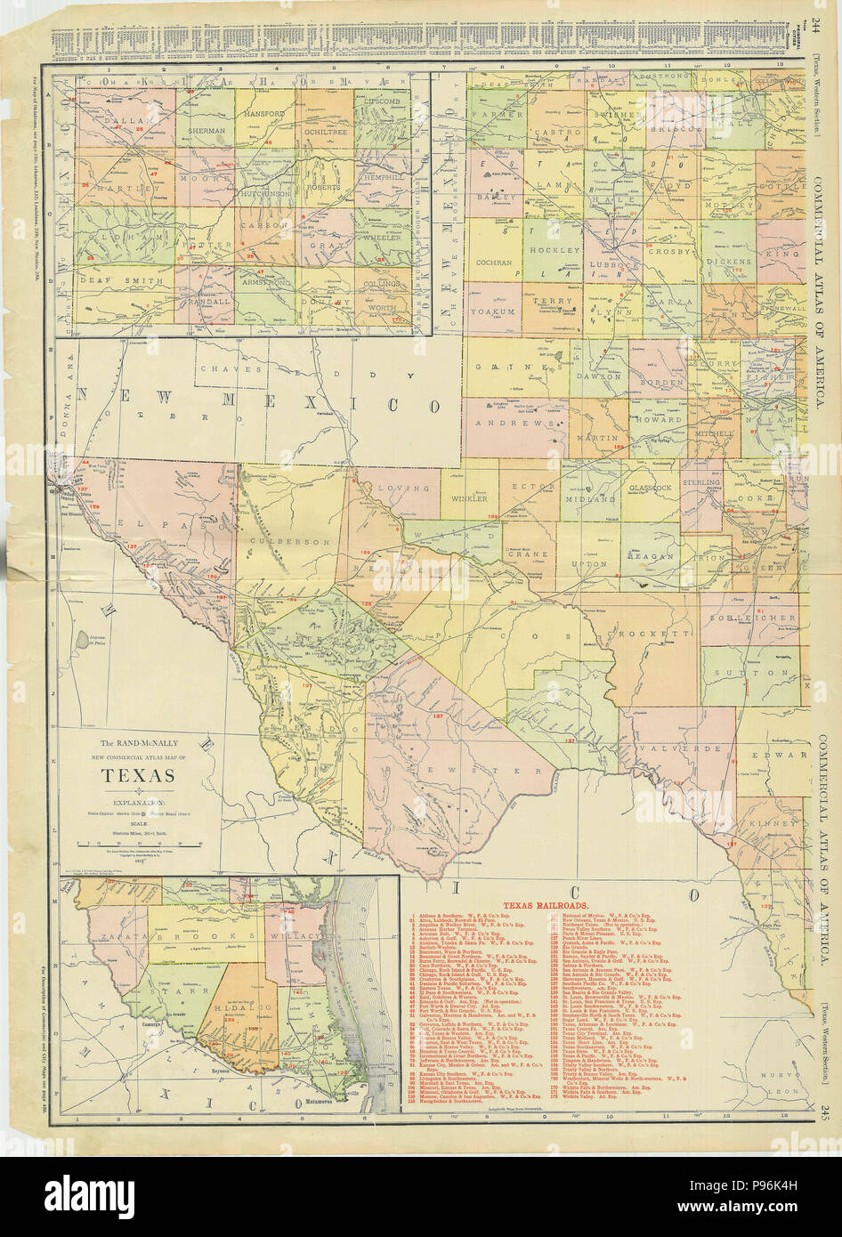 West Texas 1913 Map Stock Photo: 212203057 - Alamy