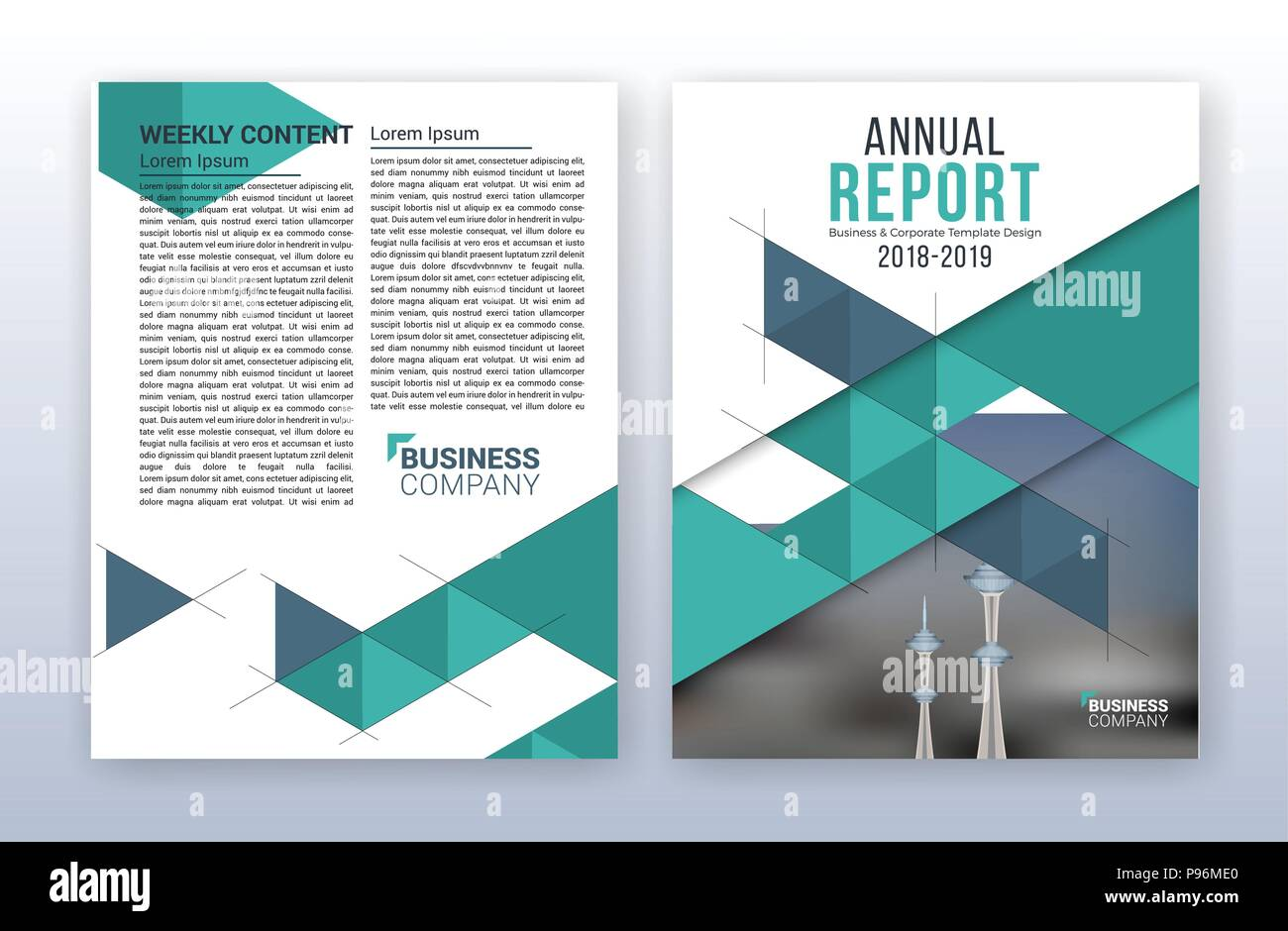 Modern business annual report template. Multipurpose flyter With Regard To Me Report Template