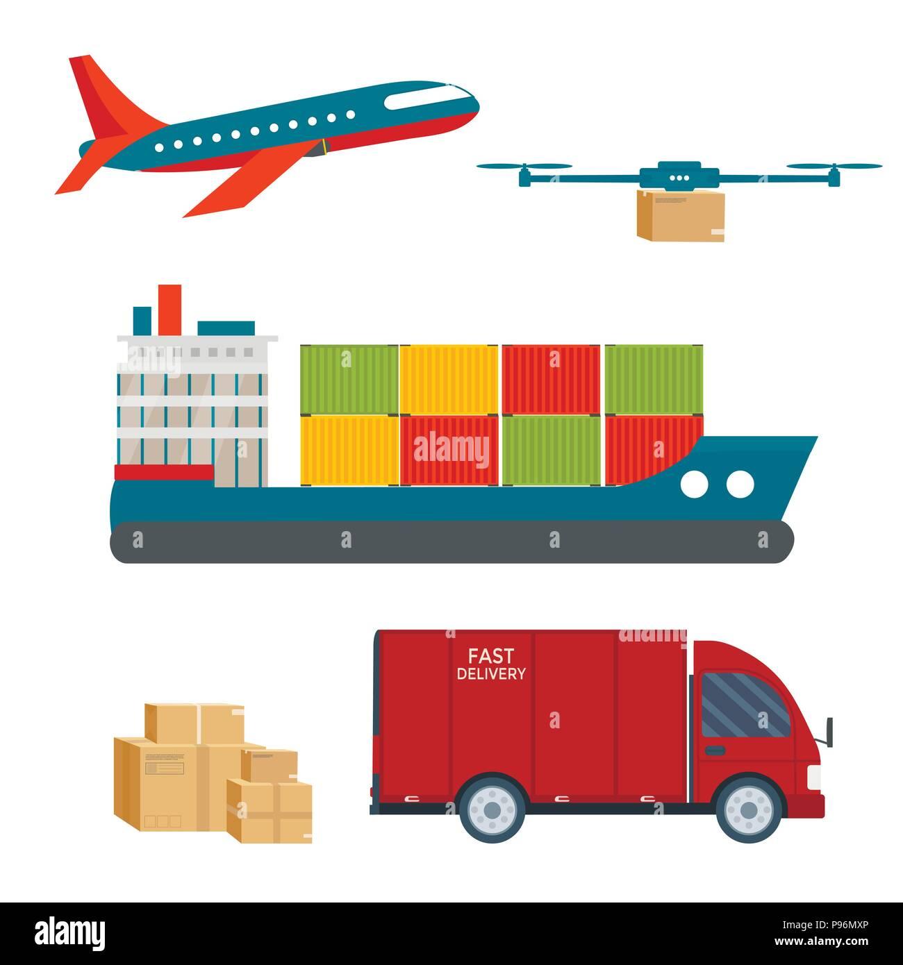 Drone Shipment Icon Stock Photos & Drone Shipment Icon Stock Images - Alamy  Drone Shipment ...