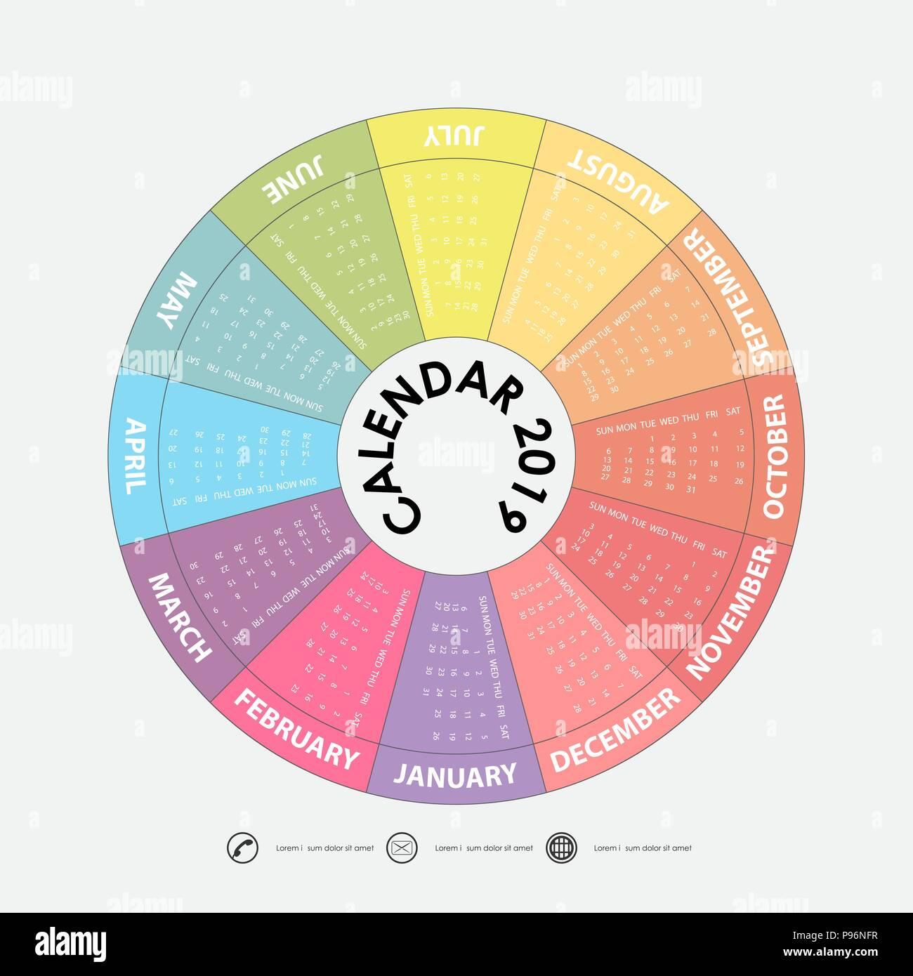 Nfr Calendar.2019 Calendar Template Circle Calendar Template Calendar 2019 Set Of