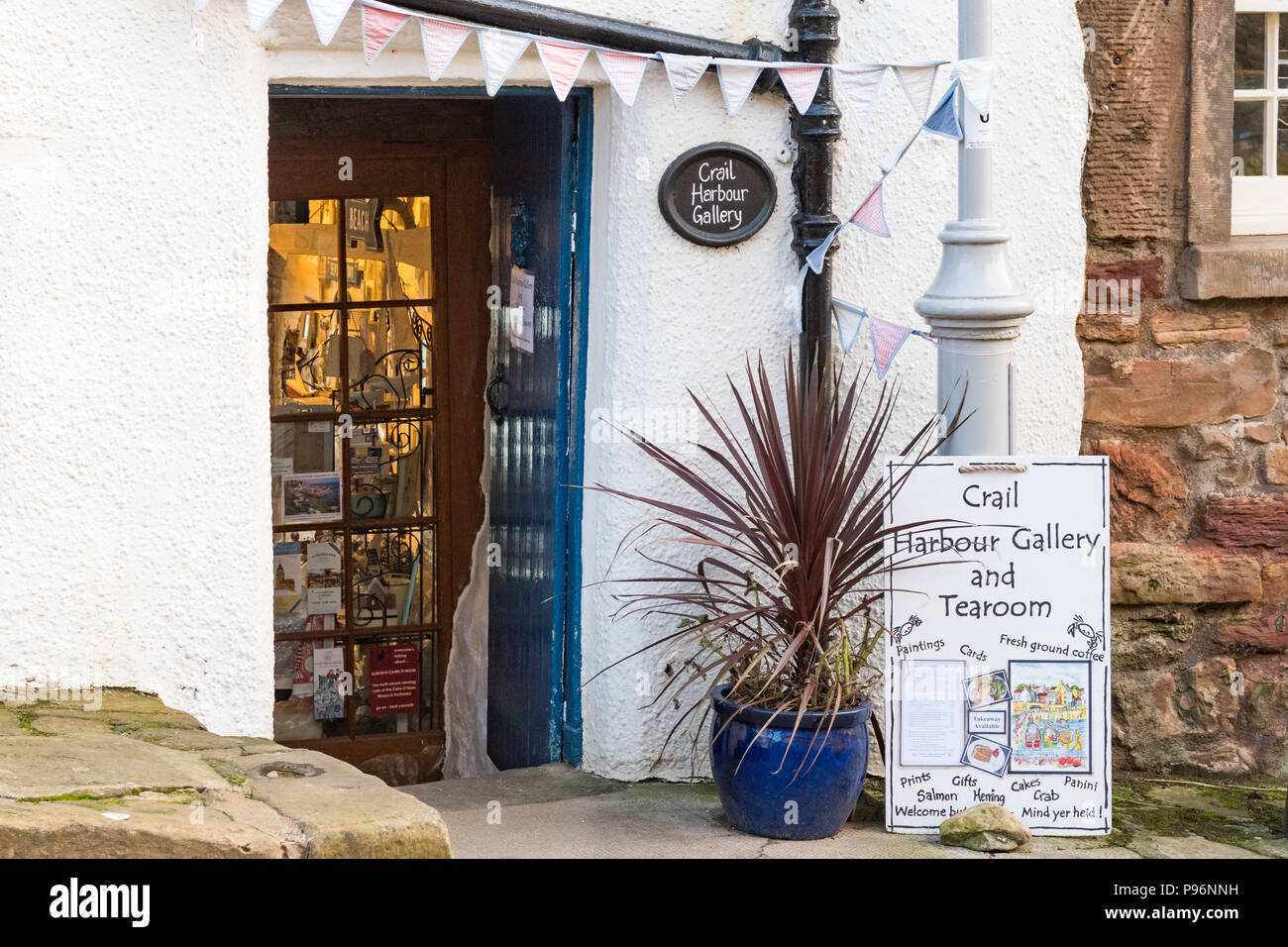 Crail Harbour Gallery and Tearoom, Crail, Fife, Scotland, UK - Stock Image