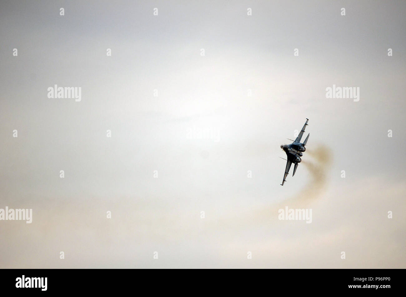 Ukrainian Air Force Su-27 (58) Flanker - Stock Image