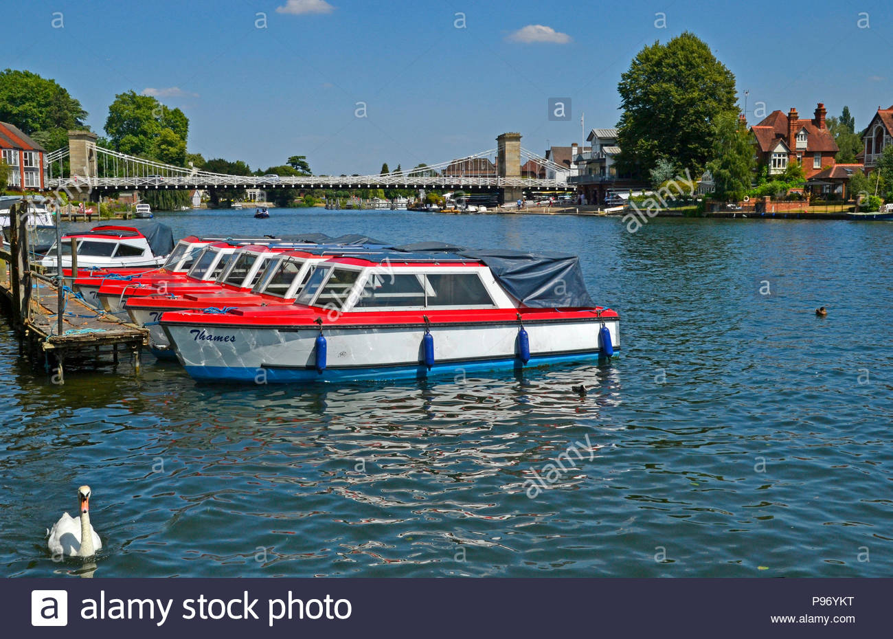The River Thames in Marlow, Buckinghamshire, England, UK - Stock Image
