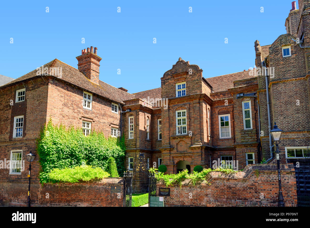 Restoration house Rochester, the inspiration of ' Satis house' in great expectations. - Stock Image