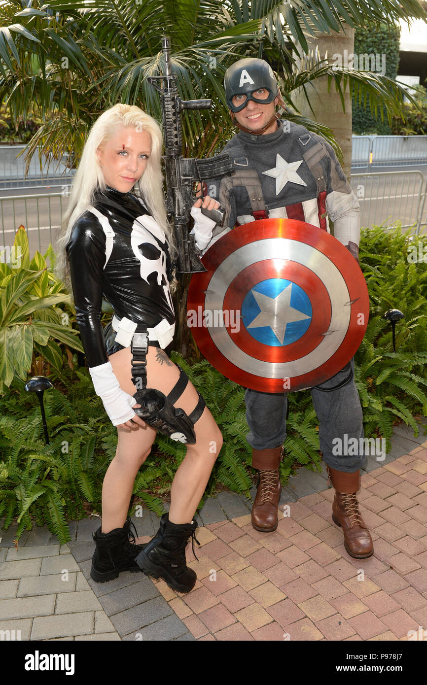 Fort Lauderdale FL, USA  14th July, 2018  Cosplayers attend