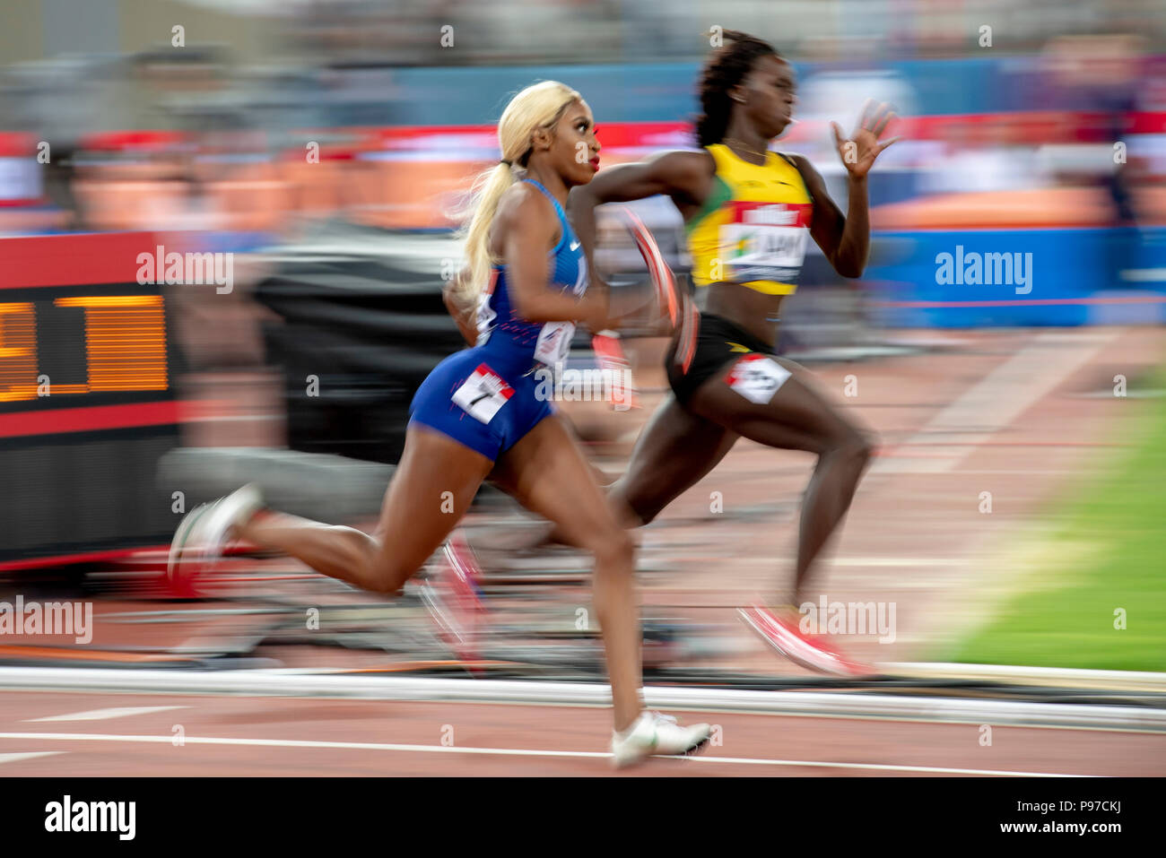 London, UK. 14th July 2018. The Athletics World Cup  at the London Stadium, London, Great Britiain, on 14 July 2018. Credit: Andrew Peat/Alamy Live News - Stock Image