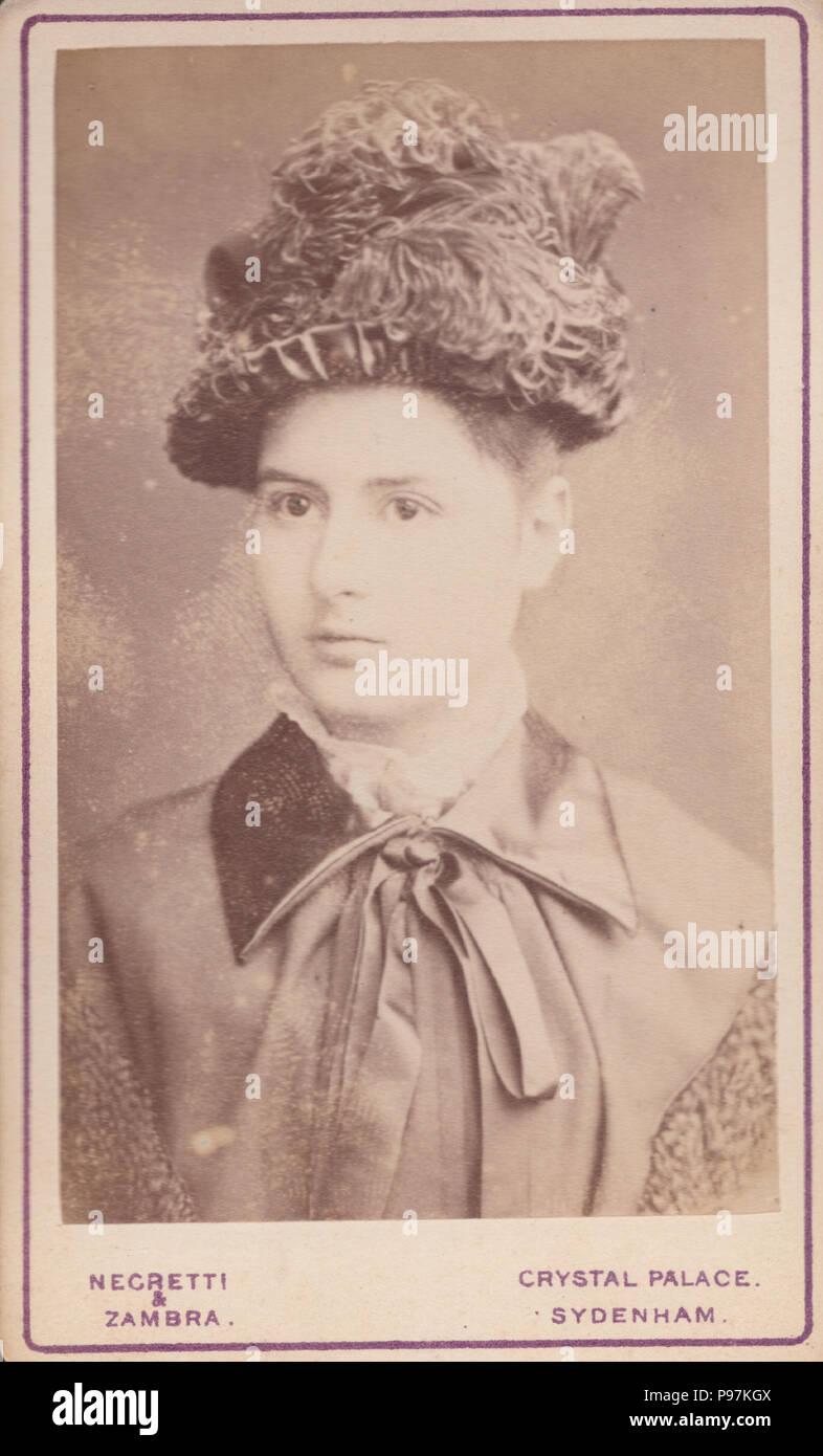 Crystal Palace, Sydenham CDV (Carte De Visite) of a Victorian Lady - Stock Image