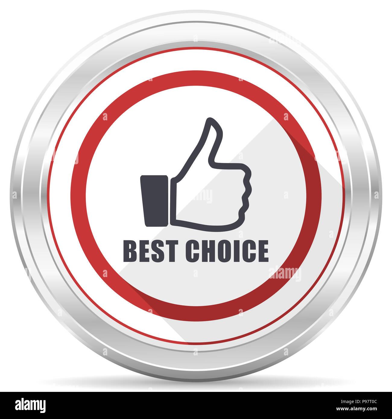 Best choice silver metallic chrome border round web icon on white background e44048ecd
