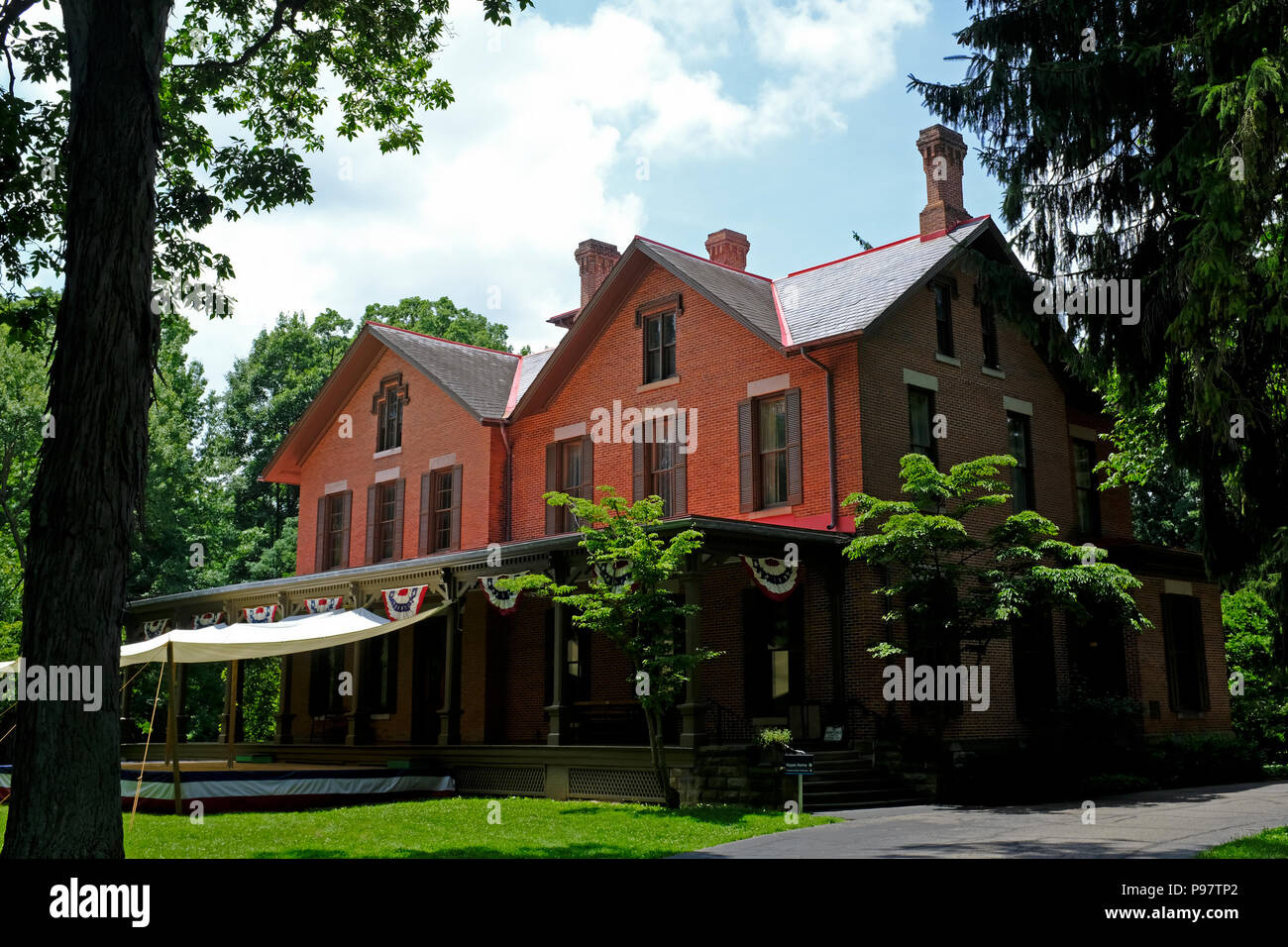 Spiegel Grove, Home Of President Rutherford B Hayes and First Lady Lucy Webb Hayes, Fremont, Ohio - Stock Image
