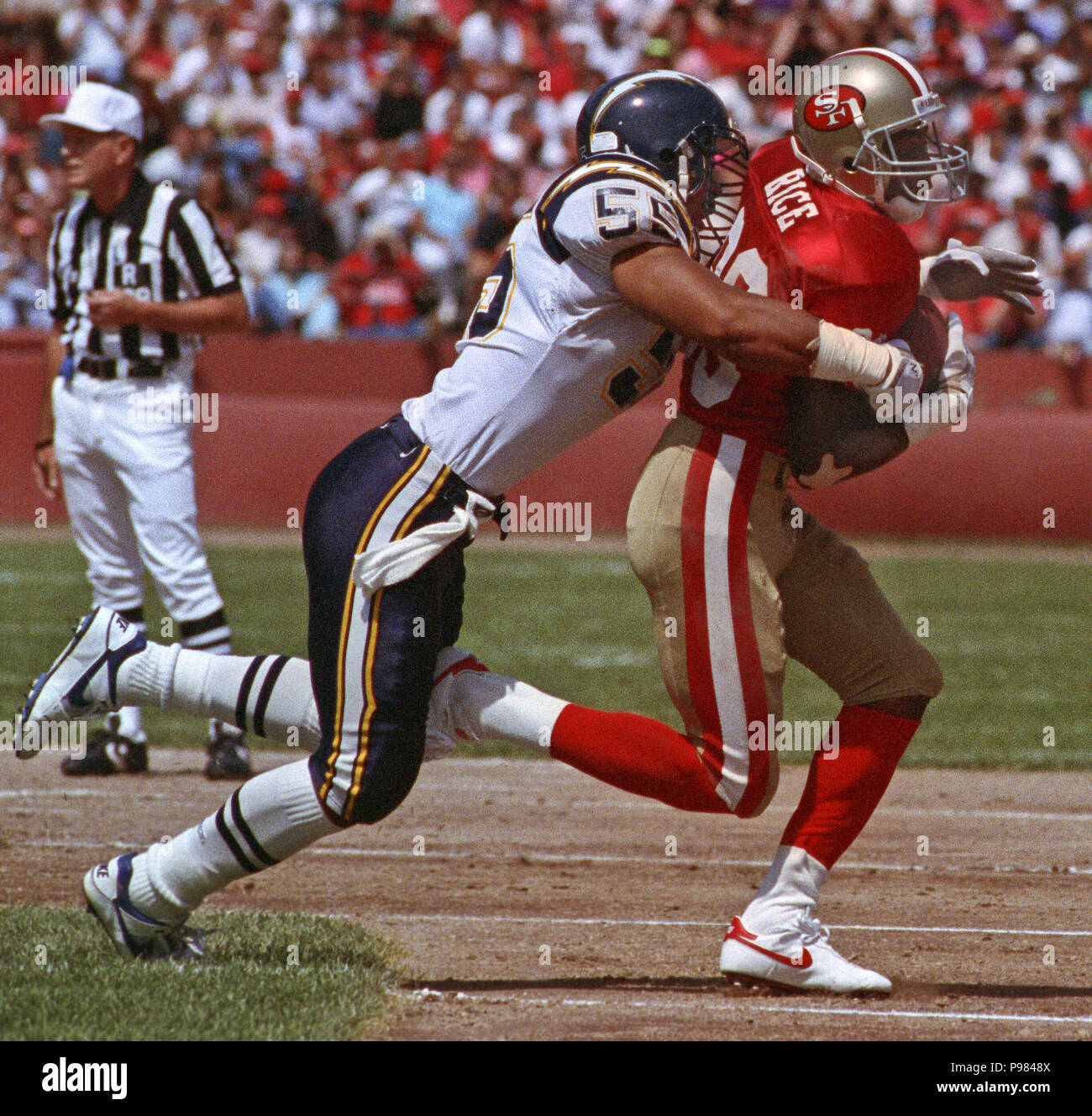 San Diego Chargers Chargers: San Francisco, California, USA. 8th Sep, 1991. San