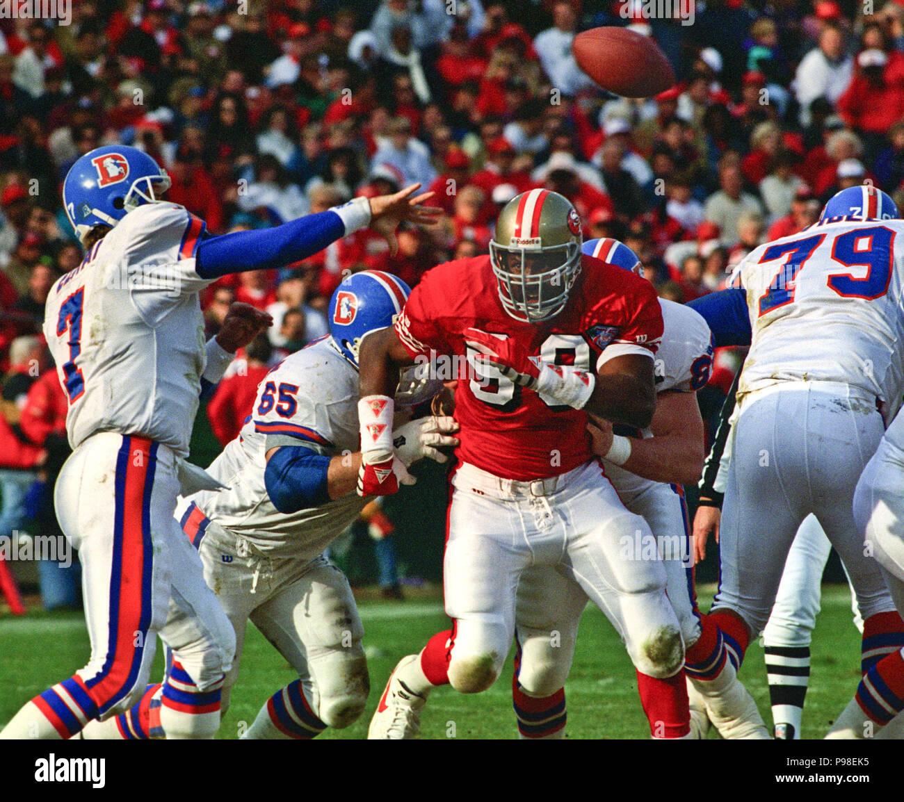 Denver Broncos Quarterback John Elway Stock Photos