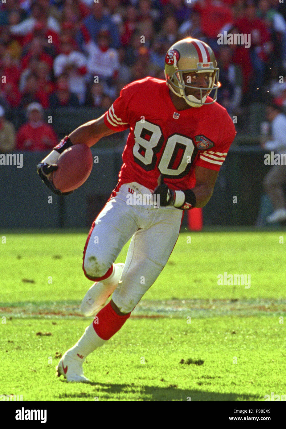 14633ba570d November 13, 1994 - San Francisco, California, U.S - San Francisco 49ers  vs. Dallas Cowboys at Candlestick Park Sunday, November 13, 1994.