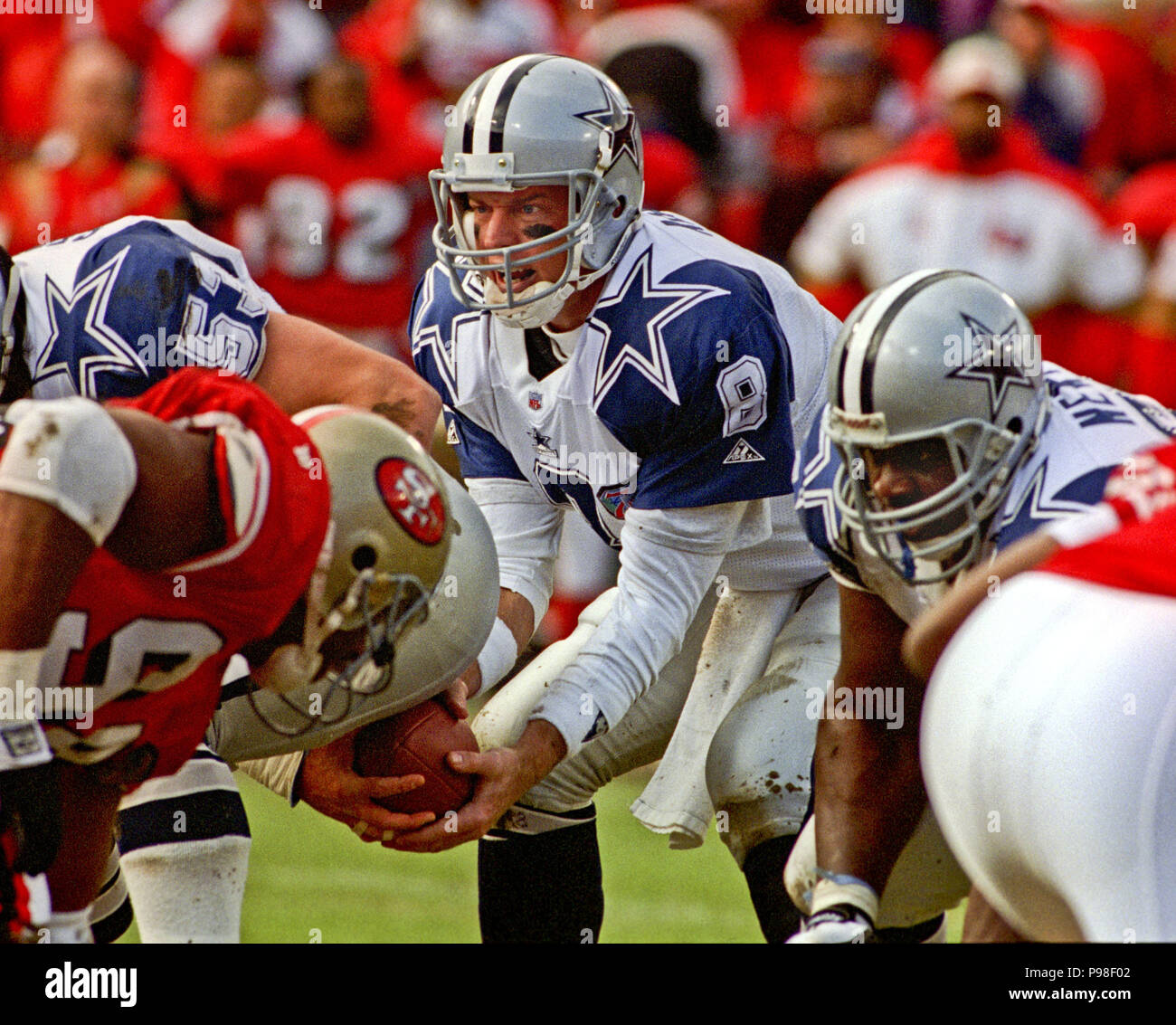 c818041588a January 15, 1995 - San Francisco, California, U.S - San Francisco 49ers vs. Dallas  Cowboys at Candlestick Park Sunday, January 15, 1995.